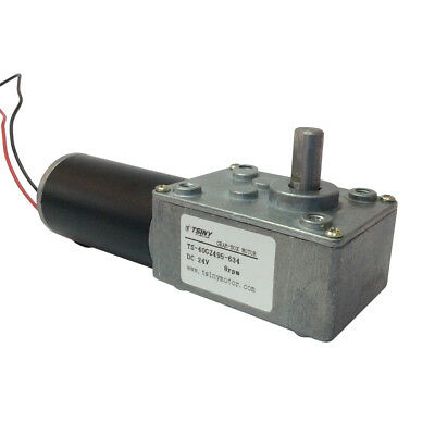Small Low 8rpm Right Angle Speed Reducer 24v Dc Geared Motor With 8mm Out Shaft