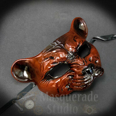 Leopard Haunted Animal Spirit Wall Decoration Halloween Masquerade Mask [Red]](Spirit Halloween Masquerade Mask)