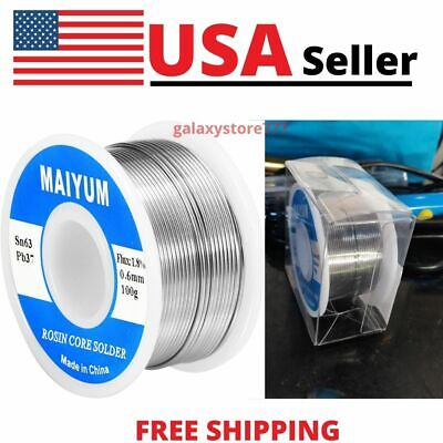 Premium 63-37 Tin Lead Rosin Core Solder Wire For Electrical Soldering .6mm 100g