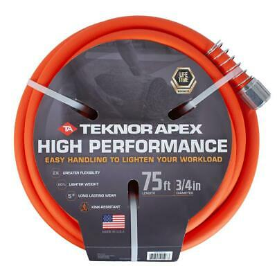 High Performance Water Hose Garden Jobsite Commercial Kink Free 3/4 Inch X 75 Ft