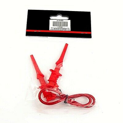 12 Mini Test Clip Patch Cord - Red 30vac60vdc 300v Rms 5a Max. - 2 Pcs