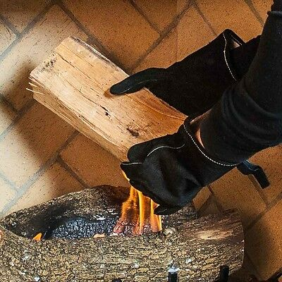 """12"""" Flame Resistant Fireplace Fire Hearth Gloves"""