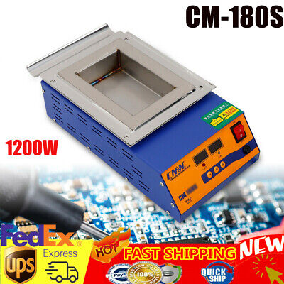 Digital Tin Furnace Adjustable Melting Temperature Solder Pot 1200w 110v Usa