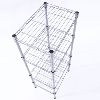 Wire Storage Units - 4 Tier Corner Shelves Wire Shelving Rack Shelf Adjustable Storage Unit Organizer