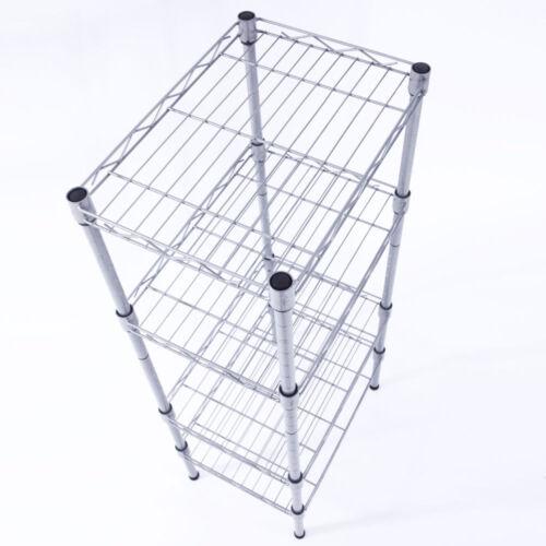 4 Tier Corner Shelves Wire Shelving Rack Shelf Adjustable St