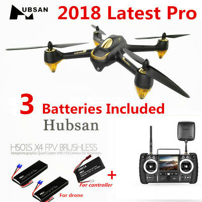 Hubsan H501S PRO X4 Drone FPV RC Quadcopter 1080P Follow Me Auto-Return GPS RTF