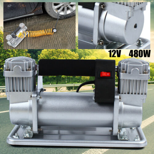 Heavy Duty 150-200 PSI Car Auto Tire Inflator Pump Air Compressor 12-13.8V USA