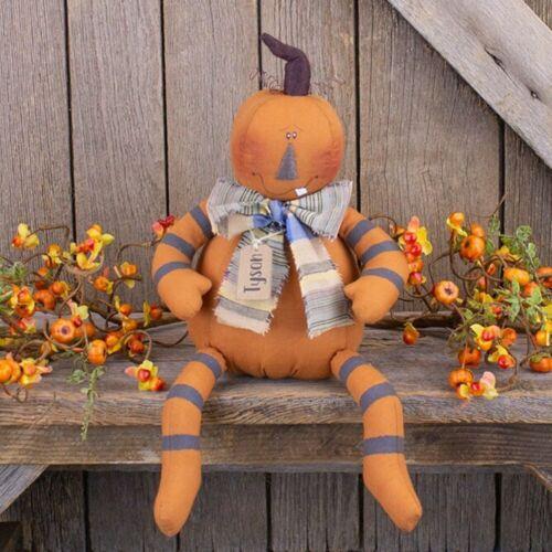 Tyson Jack O Lantern Pumpkin Doll Country Farmhouse Autumn Fall Halloween Decor