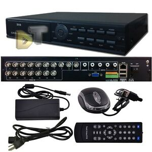 Standalone 16CH Channel H.264 D1 Surveillance Recorder Security CCTV DVR System