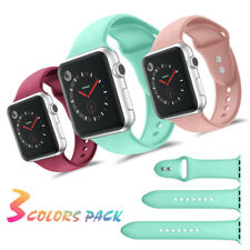 [3-Packs] Silicone Sports Watch Band Strap for Apple Watch iWatch Series 4/3/2/1