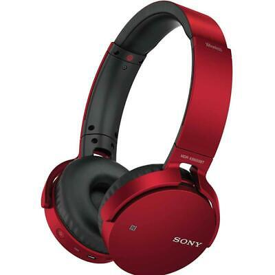 Sony MDR-XB650BT Wireless Bluetooth Stereo Headset Red Extra Bass Grade C