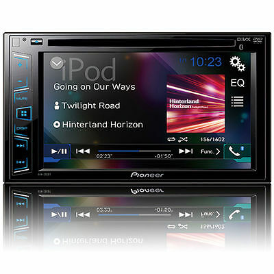 "PIONEER AVH-290BT CAR DOUBLE DIN 6.2"" TOUCHSCREEN USB DVD CD BLUETOOTH STEREO"