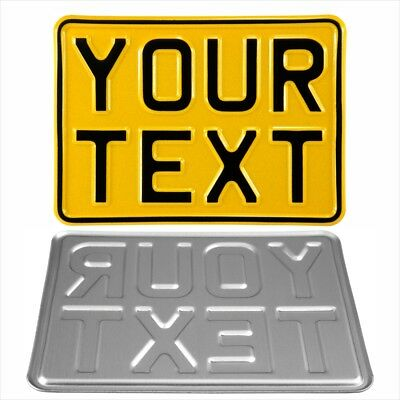 7x5 kids text motorcycle pressed number plate novelty bike car metal aluminium