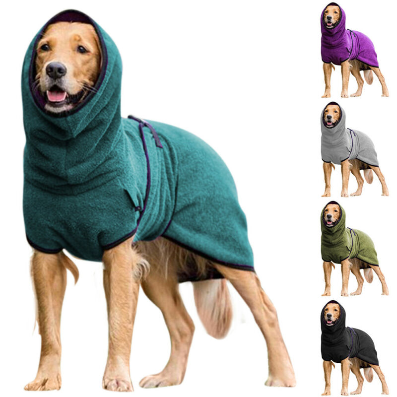 Pet Dog Warm Hoodie Vest Shirt Clothes Coat Puppy Sweater Wi