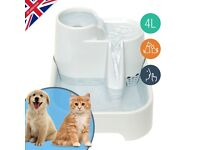 PET FOUNTAIN 4 LITRE WATER BOWL KITTEN CAT PUPPY SMALL DOG WATERFALL AMAZON AND EBAY BEST SELLER