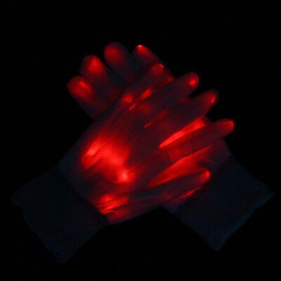 Glow Fingerhandschuhe (Grün Rot Glow Handschuh Bühne Show Straße Pub Dance LED Flash Finger Handschuhe)