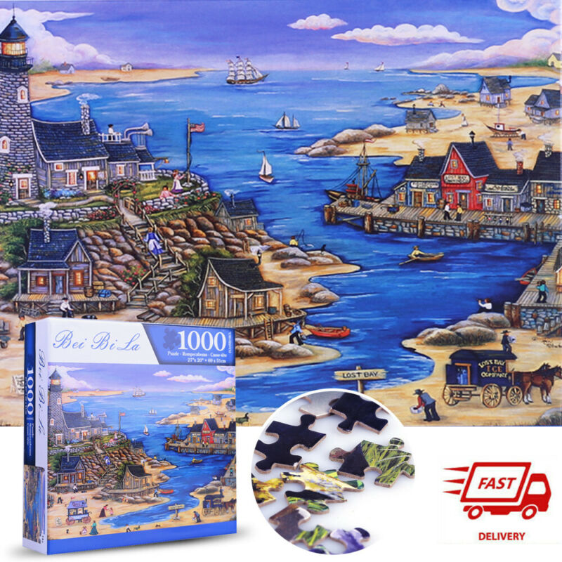 Sailing Harbour 1000 piece Jigsaw Puzzles New For Adults Kids Learning Education
