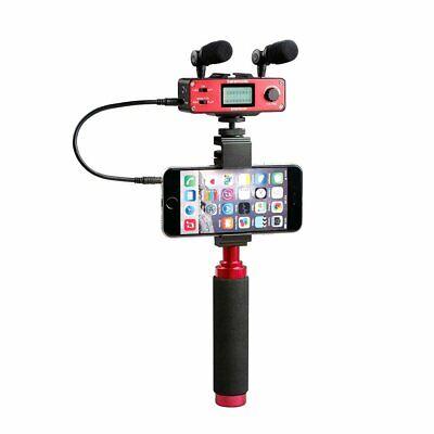 Saramonic  Smartmixer Smartphone Mixer w/ Dual Microphones, Handgrip For Iphone
