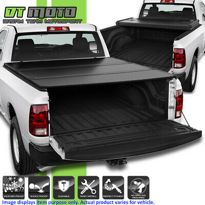 2009-2018 Dodge Ram 1500 10-18 2500 3500 6.5FT Bed Hard Tri-Fold Tonneau Cover