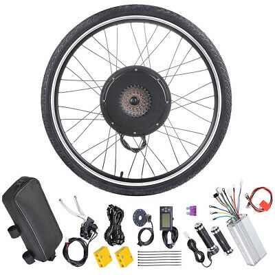 "26"" 1000W Rear Wheel Electric Bicycle Conversion Kit E-Bike PAS LCD Motor 48V"