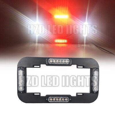 13.5 24 Led Number License Plate Lights Flash Warning Strobe Light Red White