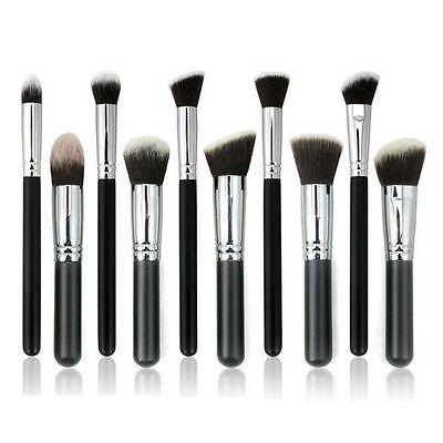 10Pcs Pro Makeup Brushes Set Cosmetic Eyeshadow Face Powder Foundation Lip Brush