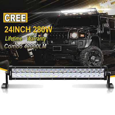 24 inch LED WORK LIGHT BAR SPOT FLOOD COMBO SUV UTE ATV OFFROAD JEEP TRUCK 20/22