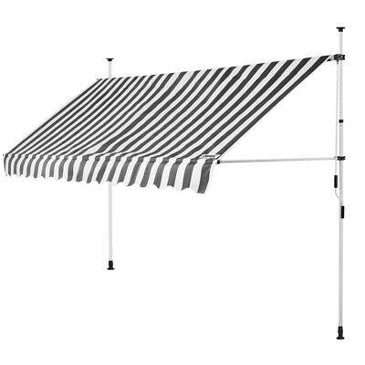 B-Ware Klemmmarkise Weiß/Grau 400cm