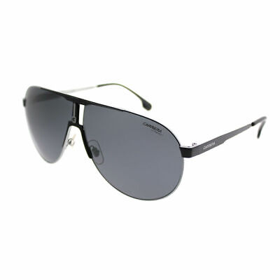 Carrera 1005/S TI7 Ruthenium Matte Black Metal Aviator Sunglasses Grey (Carrera Black Aviator Sunglasses)