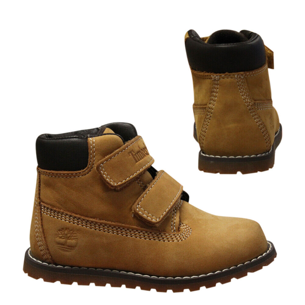 Details about Timberland Pokey Pine Hook & Loop Kids Toddlers Youths Nubuck Boots A127M B87D