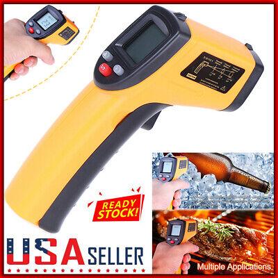 Non-Contact Laser Infrared Thermometer LCD Digital Temperature Gun Pyrometer US