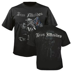 IRON-MAIDEN-Sketched-Trooper-T-shirt-Black-Mens-New-Official