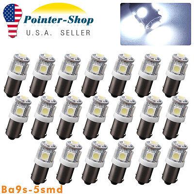 20Pcs Cool White BA9S T10 5SMD Interior Turn Signal Corner LED Light Bulbs T4W](Cool Ba)