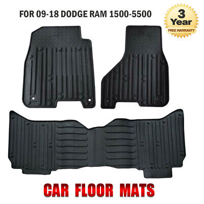 Fit for 09-18 Dodge Ram 1500 Quad Cab Crew Cab Rubber Slush Car Floor Mats OEM