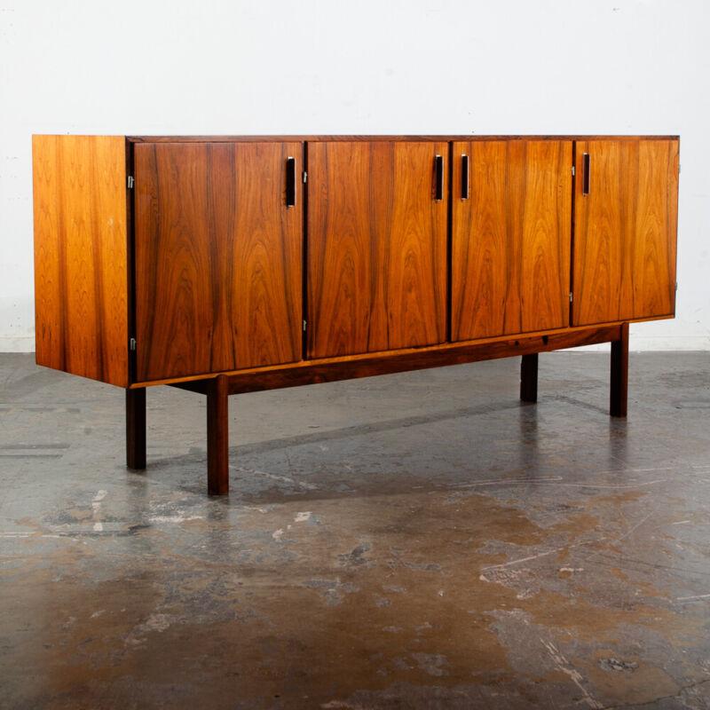 Mid Century Danish Modern Credenza Sideboard Rosewood Axel Christiansen ACO