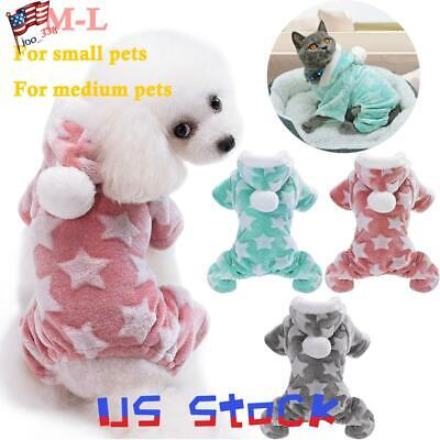 Cute Funny Puppys (Pet Clothes Warm Cat Funny Cute Dog Jumpsuit Winter Puppy Star Coat Chihuahua)