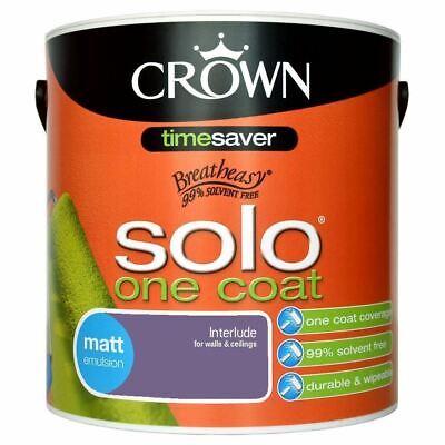 Crown Solo One Coat - Interlude - 2.5L - Matt Emulsion - Walls & Ceilings