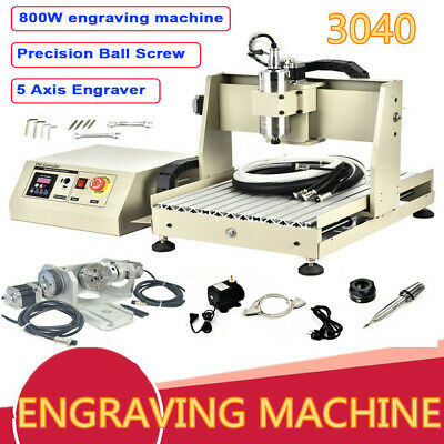 800w Usb 5 Axis 3040 Cnc Router Engraver Milling Dirlling Machine 3d Wood Cutter