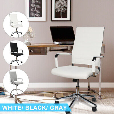 Office Gaming Chair Leather Pu High-back Adjustable Computer Seat Executive