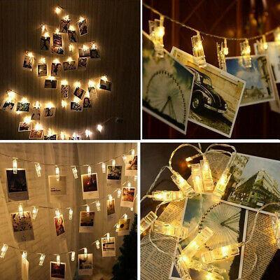 20LEDs Hanging String Lights with Photo Display Clips for Bedroom Wedding Decor ()
