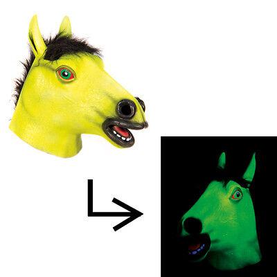 Yellow Blacklight Glowing Horse Halloween - Blacklight Halloween