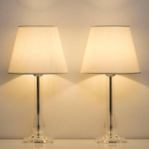 Set of 2 Bedside Table Lamp Unique Desk Lamp Pair for Bedroo
