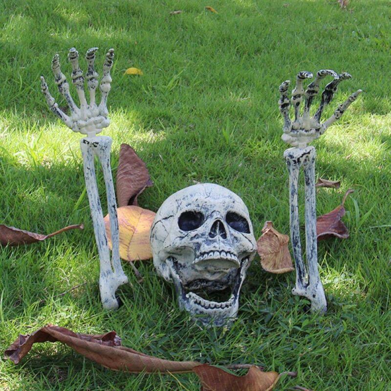 Halloween Skeleton Stakes Garden Graveyard Yard Lawn Realistic Looking Stakes US