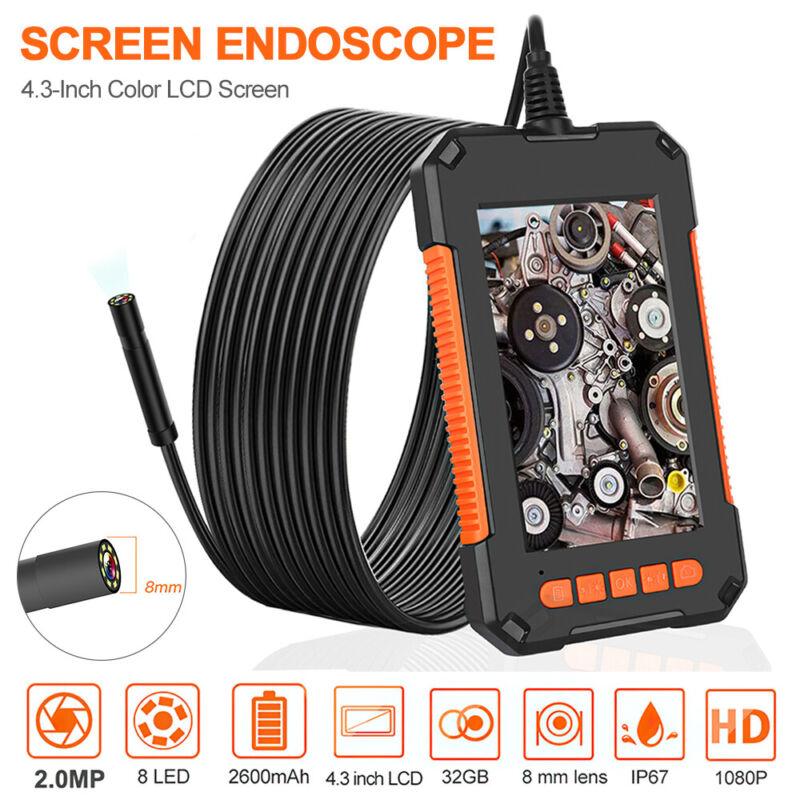 "Precise Industrial Endoscope HD Camera 1080P 4.3"" Screen Borescope Inspection US"