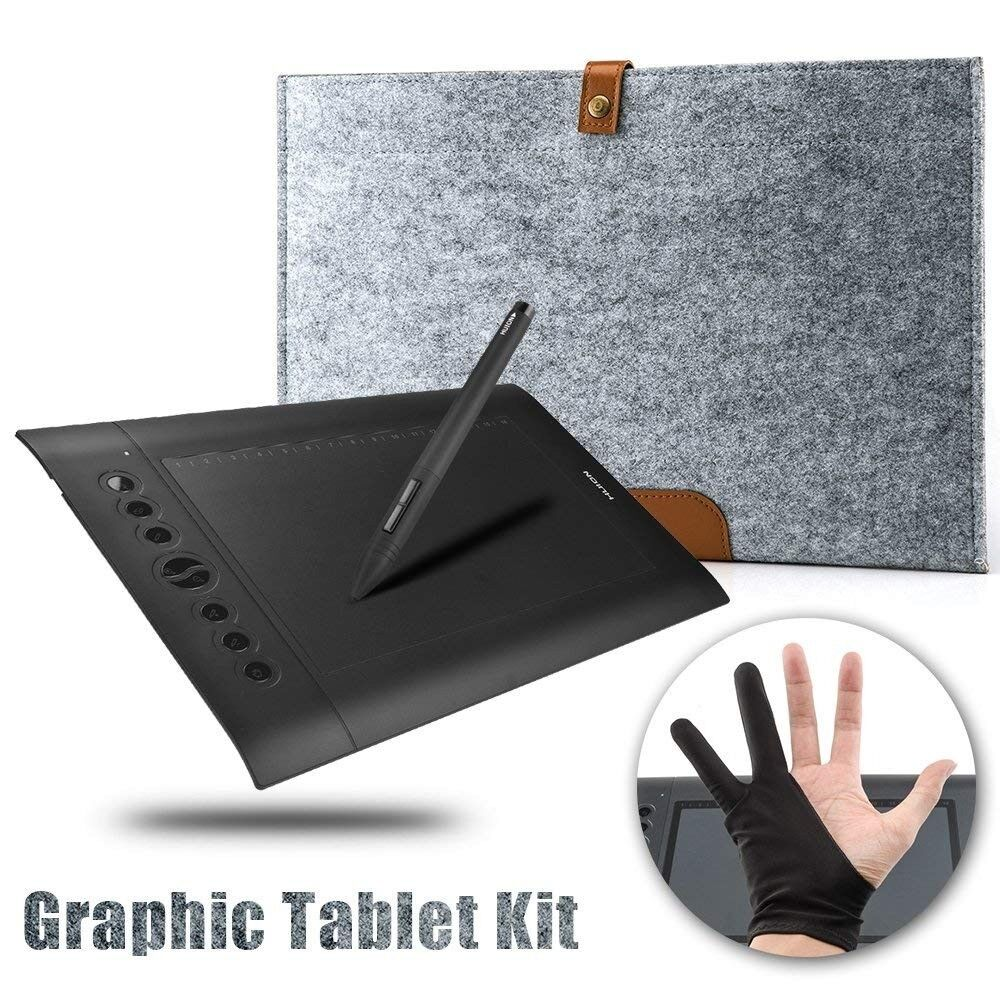 Hardly used Huion h610 pro Graphics tablet,boxed - Comes with carry case  and drawing glove- £30 | in Bangor, County Down | Gumtree