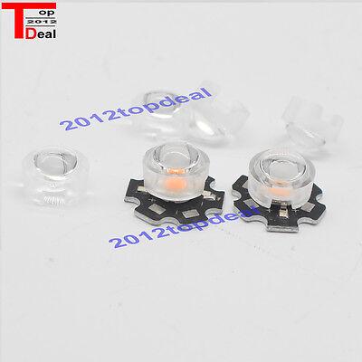 20pcs 13mm 10mm Led Lens Holder 30 45 60 90 F 1w 3w Led High Power Bead Bulb