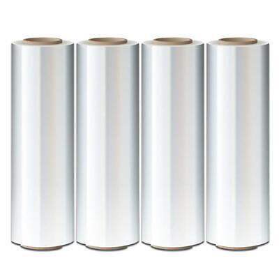 4 Rolls 18 X 1500 Ft Hand Stretch Plastic Film Shrink Pallet Wrap Self-adhering
