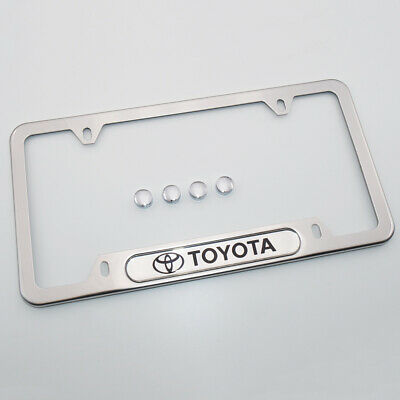 Chrome Chassis - For Toyota Brand New License Frame Plate Cover Stainless Steel Chrome