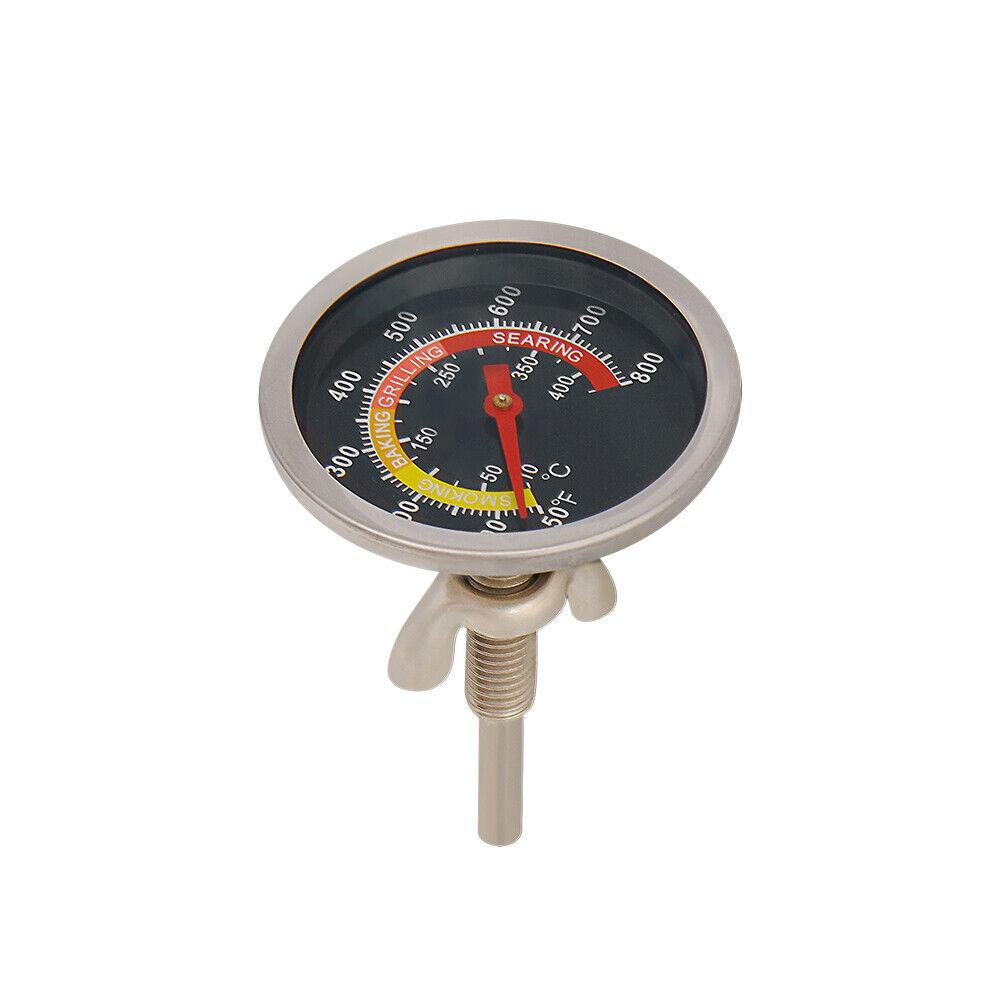 Edelstahl Barbecue Grillthermometer 10°C-400°C für BBQ Grill Gasgrill Grillwagen