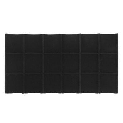 Jewelry 18 Square Divided Insert Tray BLACK VELVET Showcase 1/2 Inch Height
